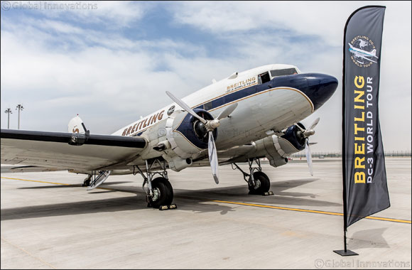 Legendary Breitling DC-3 touches down in Dubai as part of record-breaking world tour