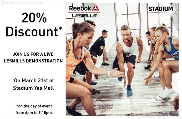 Reebok Les Mills™ invites you to witness a live workout demonstration at Stadium, Yas Mall