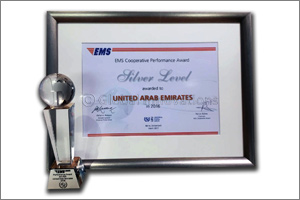 UAE wins Silver Level award in UPU's EMS Performance Awards