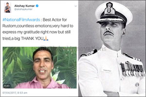 Akshay Kumar announced Best Actor at The 64th National Awards India