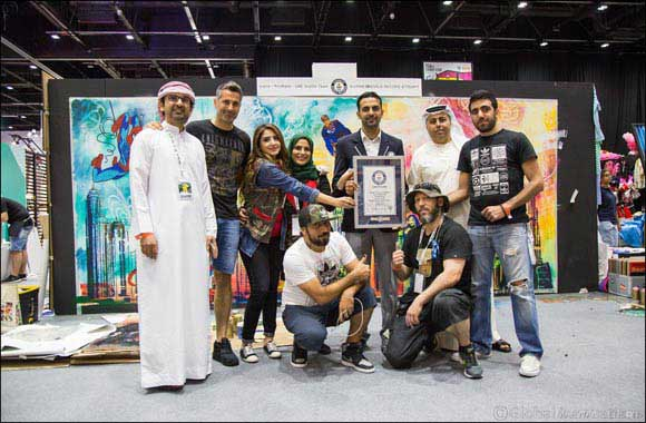 Guinness World Records title for 'Largest Stencil' Broken At Middle East Film & Comic Con