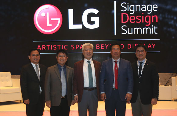 LG captivates the imagination of the MEA design community with revolutionary OLED signage
