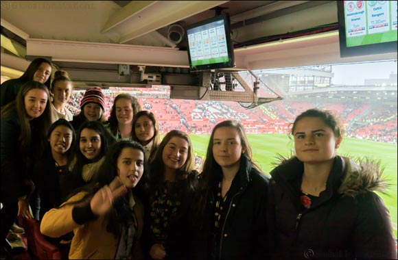 duFC's UAE Girls Challenge Winners Experience Trip of a Lifetime at Old Trafford