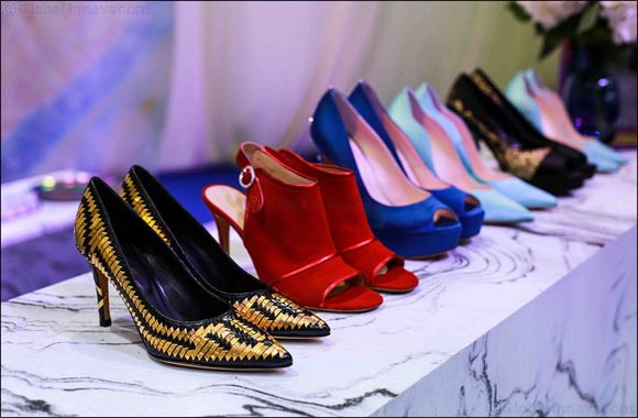 World Premiere of Gold and Diamond-Studded Women's Shoe Collection Dazzles Trade Visitors at Leatherworld Middle East