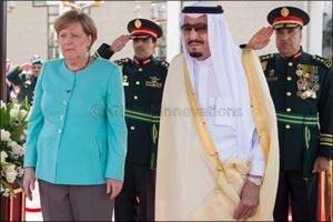 His Majesty King Salman Bin Abdulaziz Al Saud and German Chancellor Angela Merkel Witness MoU betwee ...