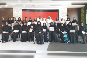 Young Emiratis Celebrating Career Growth at UAE Exchange
