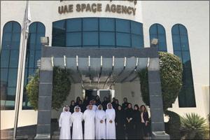 Sharjah Leadership Program delegates visit headquarters of the UAE Space Agency