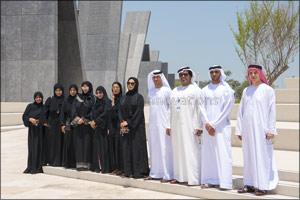 Delegation of Emirates Post's 1st Postal Zone Visits Wahat Al Karama Martyrs' Memorial in Abu Dhabi