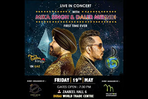 Mika Singh and Daler Mehndi live in concert in Dubai on Friday, May 19