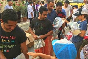 Ramadan Labour Community Donation with Swimwear to Works by COEGA Sunwear & Dubai Mums Helping Hands