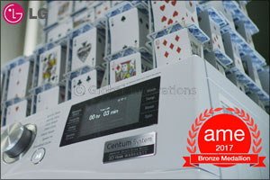 Constructing House of Cards on Running Washing Machine Earns LG Prestigious Industry Award