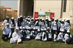 Al Manar Model School Students join McDonald's UAE and the Emirates Environment Group in an effort t ...