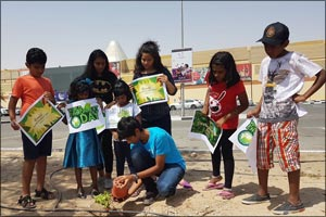 Dubai Outlet Mall celebrates Environment Day 2017 by planting saplings with kids from the community