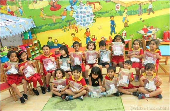 Nursery children bring smiles on the faces of labourers