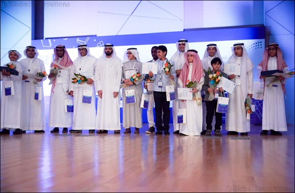 Two Crowned Winners of Arab Reading Challenge in Saudi Arabia.