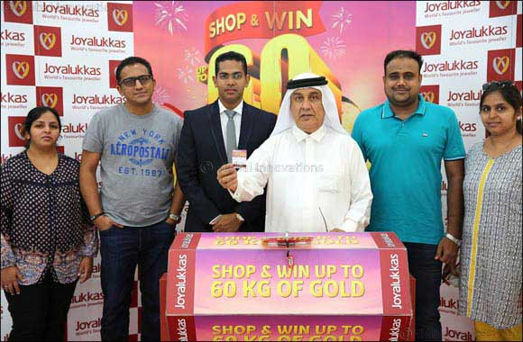 Joyalukkas Win Upto 60 KG gold promotion Lucky winner announced in the UAE