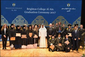 His Highness Sheikh Hamed bin Zayed Al Nahyan Attends First Graduation Ceremony of Brighton College  ...