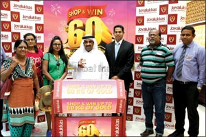 Joyalukkas Win Upto 60 KG gold promotion Lucky winner announced in the UAE.