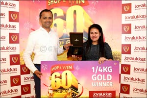 Joyalukkas presents � Kilo Gold to the Winner of the ongoing �Joyalukkas Shop & Win Upto 60 Kg Gold' ...