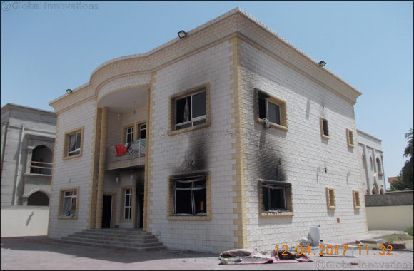 Awqaf and Minors Affairs Foundation to Sponsor Repair of Fire-damaged Family House in Al Warqaa