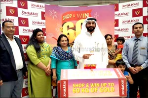 Winners of Joyalukkas 60 KG gold, 60 days of winnings announced in last few days of promotion