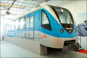 Alstom presents to RTA a full size train Mock-up for the Route 2020 project  in Paris