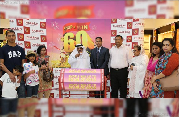 Winners of Joyalukkas 60 KG gold, 60 days of winnings announced in last few days of promotion.