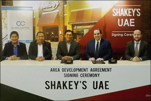 AlJeel Capital signs an exclusive UAE franchise with Shakey's