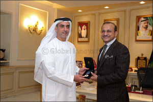 HH Sheikh Saif Bin Zayed honors one of the largest donors to the Faraj Fund