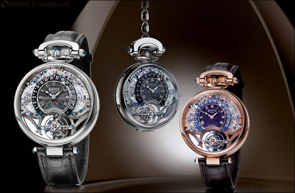 BOVET artisans introduce new dial materials Aventurine and Meteorite