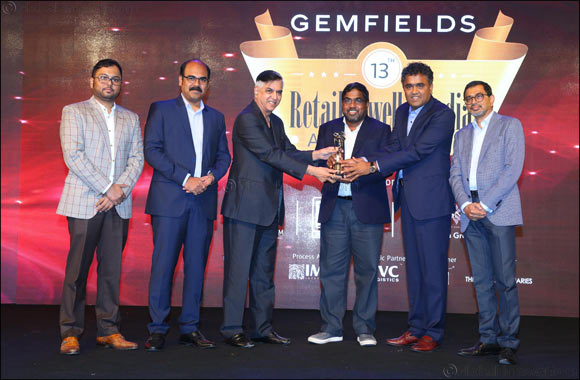 Malabar Gold & Diamonds receives Gemfield's 'Retail Jeweller India Award'