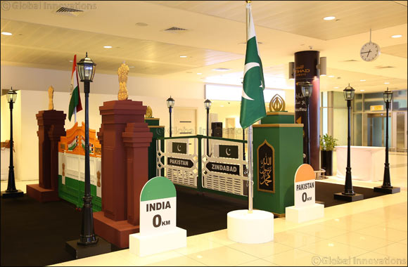 Abu Dhabi International Airport join passengers in Celebrating Pakistan's and India's Independence Days