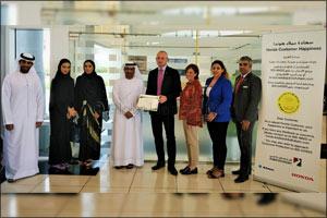Al-Futtaim Honda launches Consumer Happiness Counter initiative