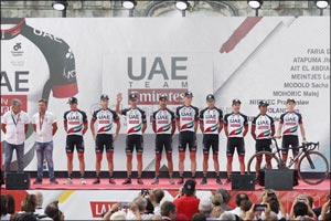 UAE Team Emirates makes Vuelta a España Debut