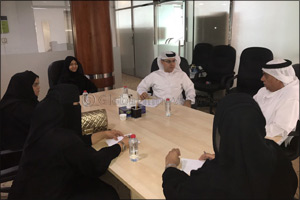 Dubai Public Library Receives a Delegation from Dubai Customs Knowledge Club