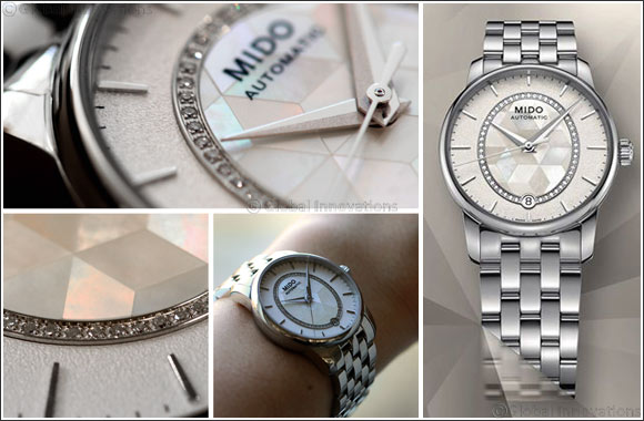 Mido's Baroncelli Prisma -  A sparkling play of prisms enhanced by 51 diamonds