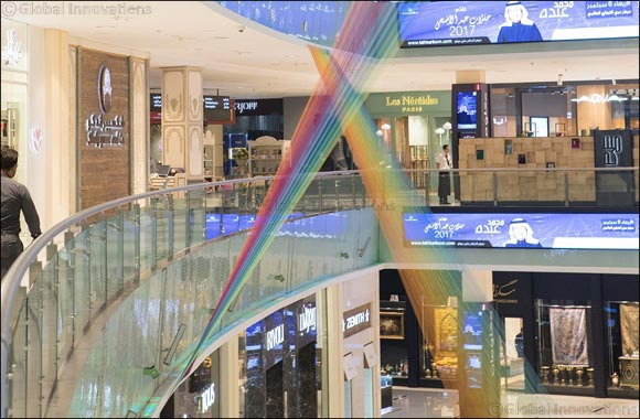 Check out the kaleidoscopic art installation at The Dubai Mall