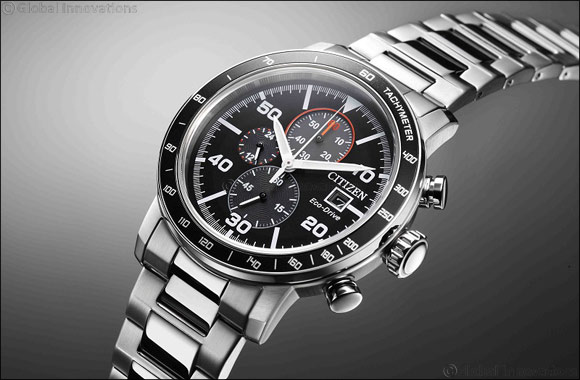 CITIZEN CA0641-83E Eco-Drive Chronograph exudes sporty elegance