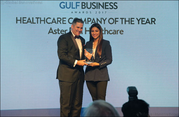 "Aster DM Healthcare bags Gulf Business Awards-2017 for the ""Healthcare Company of the Year"" category."