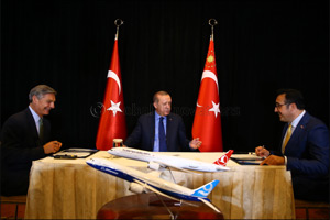 Turkish Airlines announces a commitment to order 20 + 20 787-9 Dreamliners, talks with Boeing starte ...