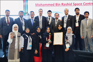 Mohammed bin Rashid Space Centre wins the first IAF Excellence in 3G Diversity Award at IAC 2017