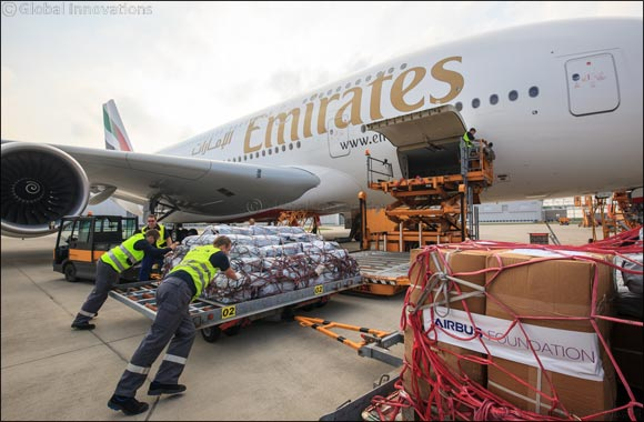 Emirates Airline and the Airbus Foundation fly relief goods to UN depot in Dubai