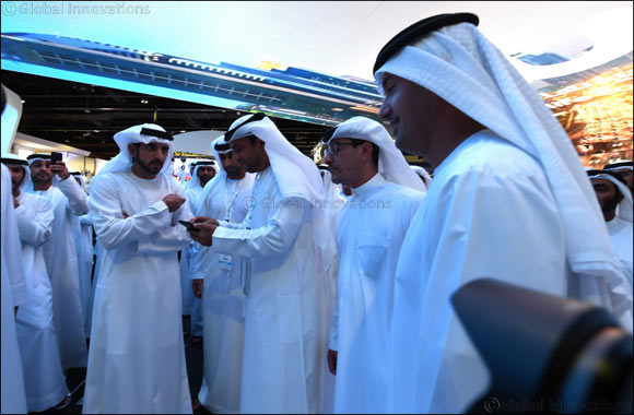His Highness Sheikh Hamdan bin Mohammed bin Rashid Al Maktoum Experiences the Transformational Technology Paradigm at du's Stand on Day One of GITEX 2017