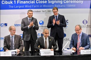 Masdar-led joint venture agrees financing for largest wind farm in Serbia