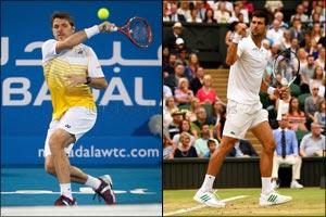 Grand Slam Champions Novak Djokovic and Stan Wawrinka Complete the Mubadala World Tennis Championshi ...