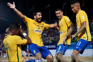 Gilberto wants more from Brazil's �Invincibles' at the Huawei Intercontinental Beach Soccer Cup Duba ...