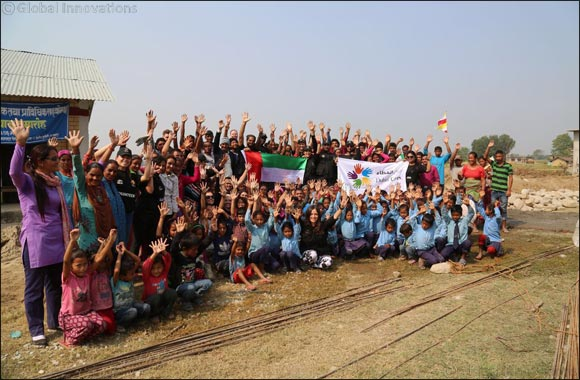 Dubai Cares volunteers successfully set the foundation for a new school in Nepal