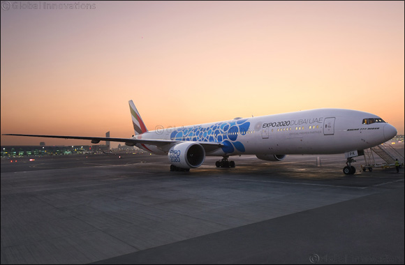 Emirates unveils aircraft with new Expo 2020 Dubai livery
