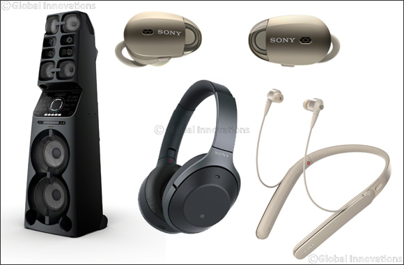 Sony Launches Industry-Leading Wireless Noise Cancelling Headphones in Three Styles and 1.7 m Tall High Power Audio System
