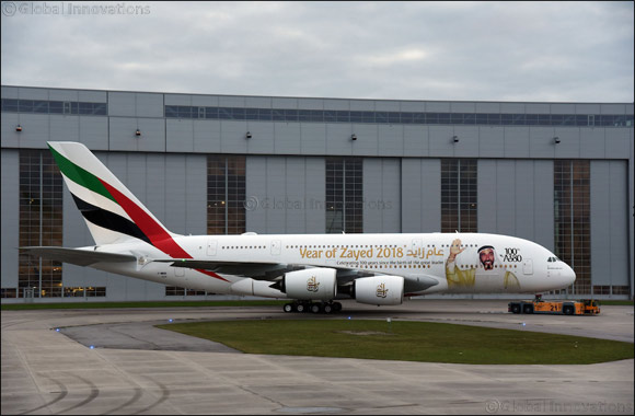 Emirates dedicates 100th A380 livery to HH Sheikh Zayed with special tribute